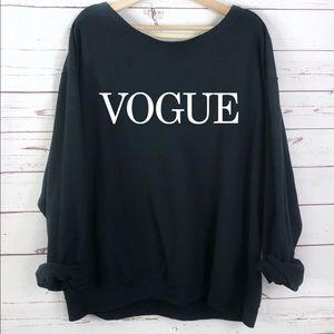 NEW Vogue Sweatshirt oversized cozy S-5X top